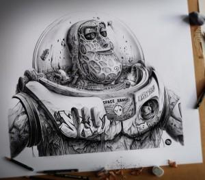 Buzz-peinture-spay-et-crayon-graphite.-50x45--610x535